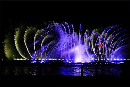 Seven points of the program-controlled fountain