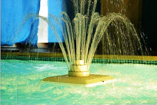What function does a running fountain have?