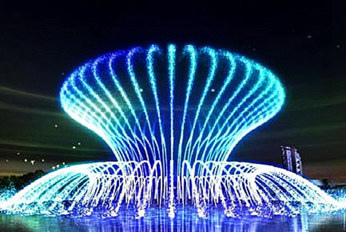 What is the role of fountain landscape construction?