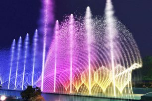 Development and application of fountains in urban construction