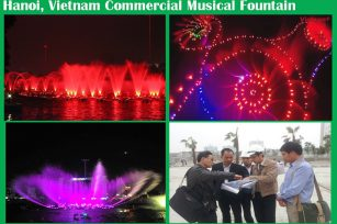 Hanoi, Vietnam Commercial Music Fountain