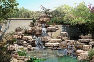 What is the role of rockery fountain in life