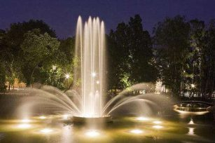 Architectural aesthetic principles for the general layout of fountain water features