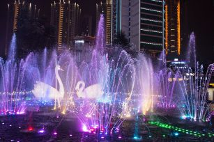 What important points to consider when designing a musical fountain