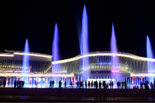 Where should the price of a musical fountain be understood?