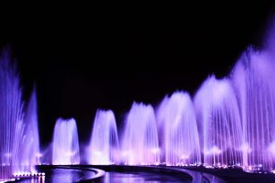 Common control system for music fountain design