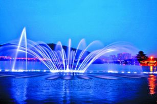 What are the water shape processing modes of music fountain?